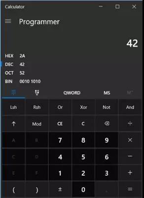 windows 计算 器 命令